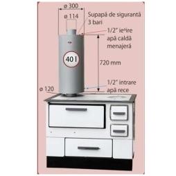 Boiler bucatarie 40 L FM - schema de montaj
