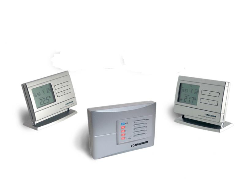Termostat Computherm Q8 RF set cu doua termostate
