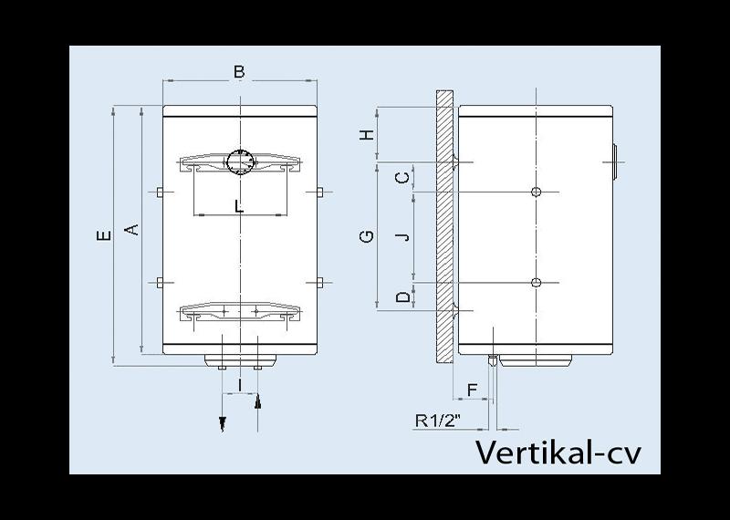 Boiler electric pentru apa calda LEOV 44 STANDARD - vertical
