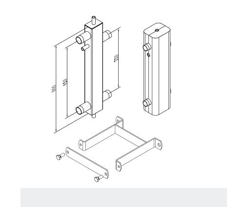 Set suporti butelie de egalizare SINUS 120/80 8 m³/h