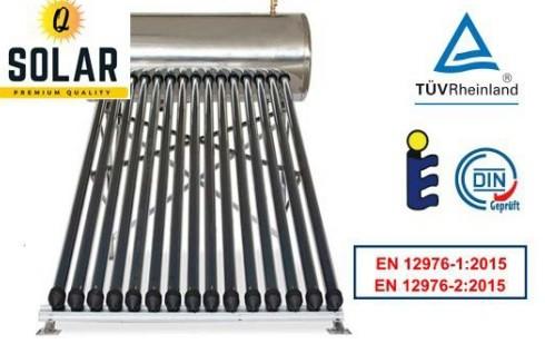 Panou solar Q Solar Premium presurizat boiler INOX 100 litri 10 tuburi vidate