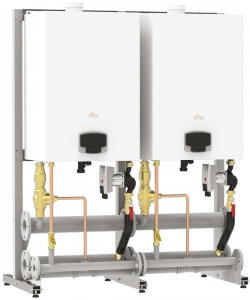 Grup de centrale termice pe gaz FERROLI FORCE W - exemplu de montaj