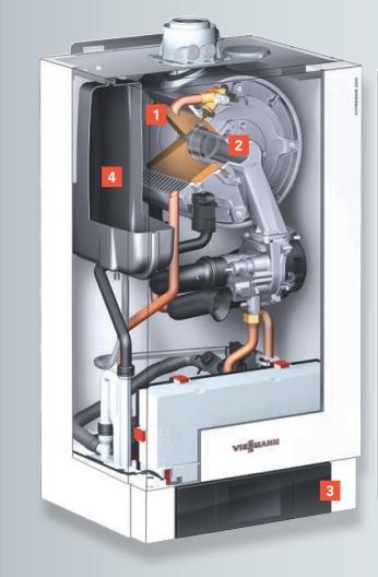 Centrala termica pe gaz in condensatie Vitodens 200-W