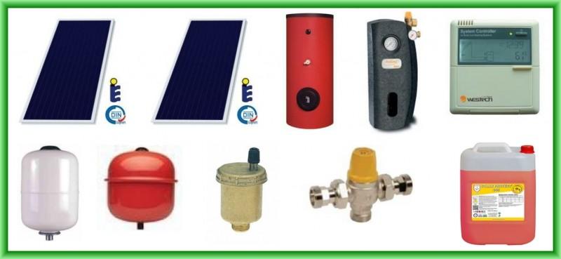 Pachet solar SUNSYSTEM cu doua panouri plane PK SL/CL 2 mp + boiler SON V S2/200