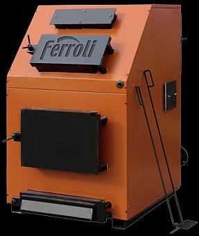 Centrala termica pe lemn Ferroli FSB 3 - 120 Max, cu trei drumuri de fum