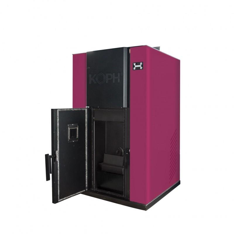 Centrala termica pe peleti PM 35 kW - culoare bordo