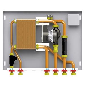 Kit hidraulic pentru separare circuite de incalzire si pentru preparare acm (optional)