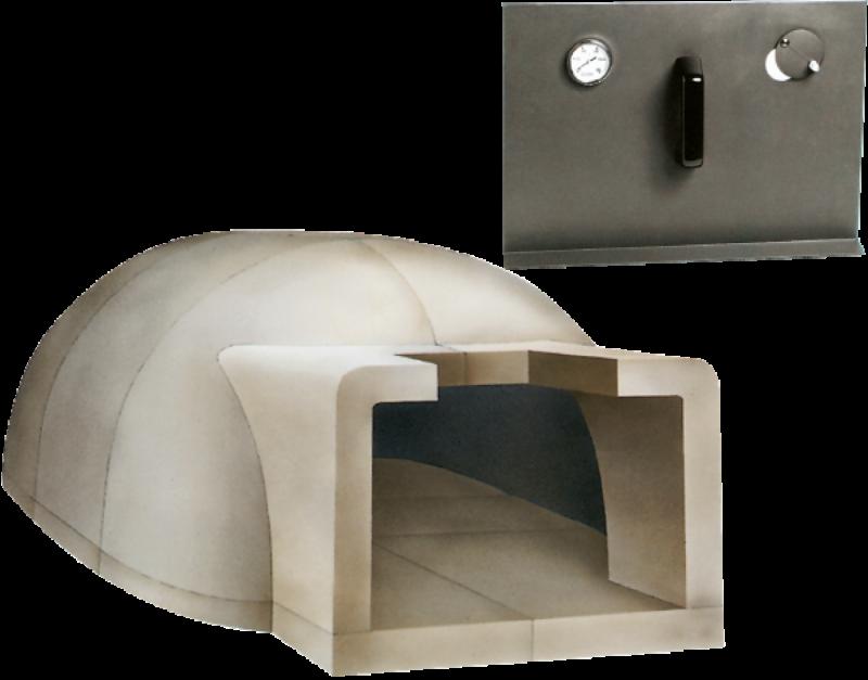 Cuptor pe lemne pentru paine prefabricat CLAM F160