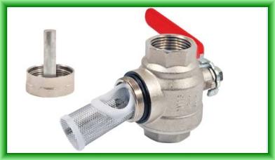 Robinet cu filtru de impuritati si magnet permanent REGULUS DN 20 mm - vedere cu magnet si sita demontata