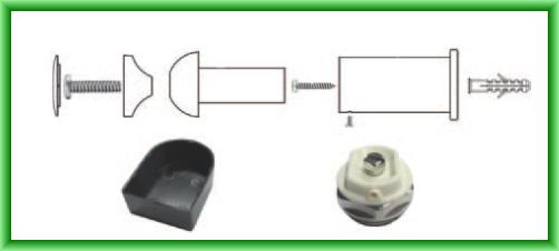 Radiator port-prosop FERROLI TALIA drept alb - detaliu accesorii