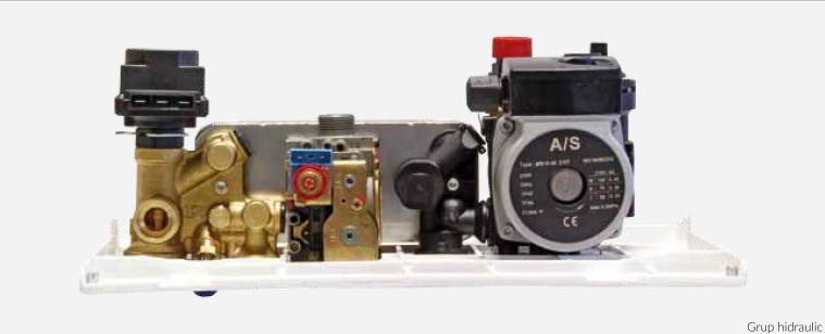 Centrala termica pe gaz ARCA PIXEL 29F - grup hidraulic cu vana cu 3 cai electrica