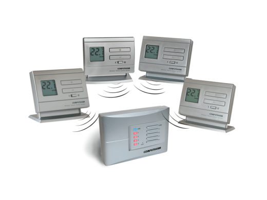 Termostat centrala termica Computherm Q5RF wireless, neprogramabil, pana la 4 zone