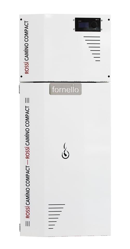 Centrala termica pe peleti ROSSI CAMINO COMPACT 35 kW - vedere din fata
