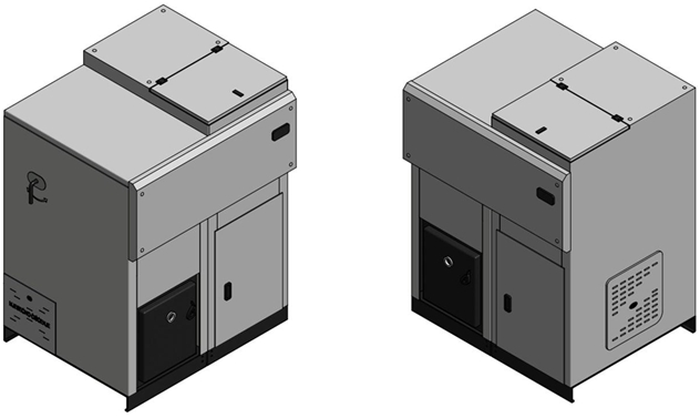 Centrala termica pe peleti DOMINUS SM - randare 3D