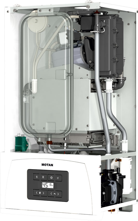 Centrala termica pe gaz in condensatie MOTAN CONDENS 050 24 kW - vedere fara capac