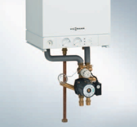 Centrala termica pe gaz Viessmann Vitopend 100-W 24 kW cu tiraj natural kit montaj incalzire prin pardoseala