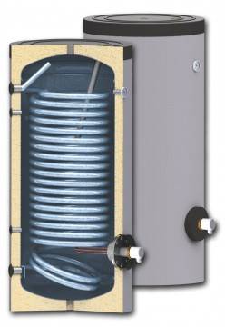 poza Boiler cu serpentina marita pentru instalatii cu pompe de caldura model SWPN 200
