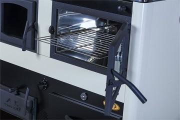 Poza Soba de gatit pe lemn cu incalzire centrala Concept 2 - vedere cuptor cu usa deschisa