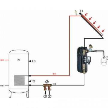Poza Grup de pompare SR881 controler integrat 868C9 - schema de montaj in instalatie