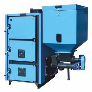 Poza Cazan cu funcționare pe pellet-biomasă și lemne MCL BIO 139 kw