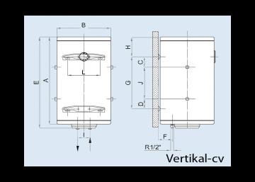 Poza Boiler electric pentru apa calda LEOV 44 STANDARD - vertical