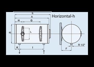 Poza Boiler electric pentru apa calda LEOV 44 STANDARD - orizontal