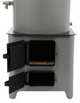 Poza Ansamblu boiler pe lemn cu focar FM, tabla vopsita 90 l - vedere focar