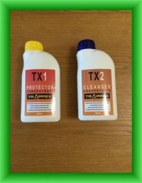 Poza Solutii de protectie si de curatare instalatii de incalzire Trappex TX1 + TX2