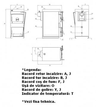 Poza Centrala termica pe lemn BURNIT NWB - desen tehnic