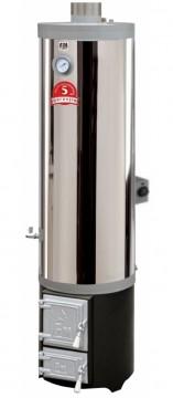 poza Ansamblu boiler inox 90L cu focar cu usi din fonta FM + ELECTRIC