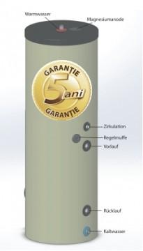 poza Boiler pentru preparare apa calda cu o serpentina AUSTRIA EMAIL HT 500 ERM