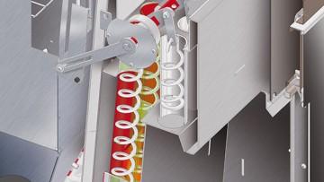 Poza Schimbator de caldura ignitubular cu turbionatori si mecanism de curatare