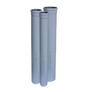 poza TEAVA PVC CU MUFA SI GARNITURA PT CANALIZARE GRI, D.40X1.5 mm L=0.5m