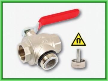 Poza Robinet cu filtru de impuritati si magnet permanent REGULUS DN 20 mm - vedere cu capacul demontat