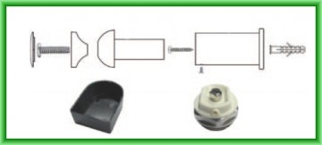 Poza Radiator port-prosop FERROLI TALIA drept alb - detaliu accesorii