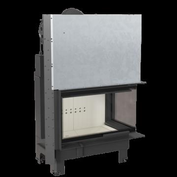 Poza Semineu tip insert MBO 15 cu geam pe doua laturi si usa tip ghilotina 15 kW - vedere din stanga