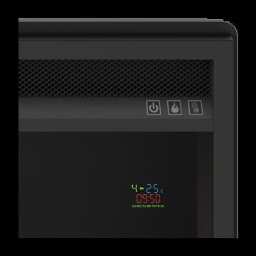 Poza Focar de semineu electric TAGU PowerFlame - detaliu termostat programabil incorporat