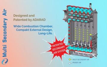Poza Centrala termica pe lemn din fonta MAXITECH - schema de circulatie aer de combustie