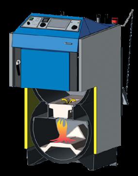 Poza Centrala termica pe lemn cu gazeificare ATMOS DC22SX - schema functionala