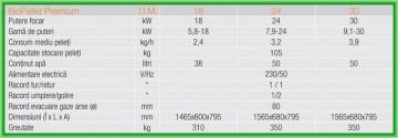 Poza Centrale termice pe peleti cu autocuratare Ferroli BioPellet Premium - fisa cu date tehnice
