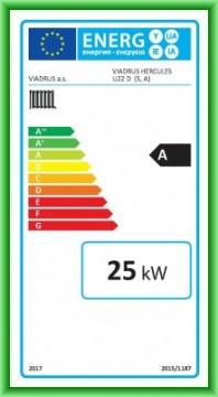 Poza Eticheta energetica centrala termica pe lemn din elementi de fonta VIADRUS U22D 25 kW