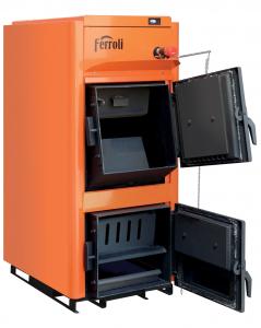Poza Centrala termica pe lemn Ferroli FSB PRO N - vedere cu usile deschise