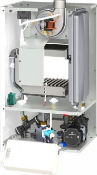Poza Centrala termica pe gaz cu tiraj fortat MOTAN CLASIC 24 kW - vedere interioara piese componente