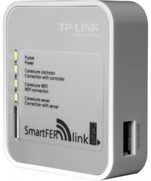 Poza Modul de conectare la internet SmartFer-link in functiune cu ledurile aprinse