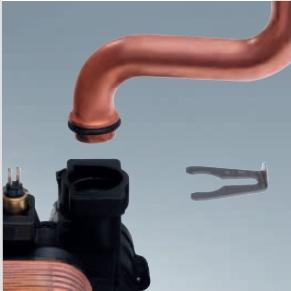 Poza Centrala termica pe gaz Viessmann Vitopend 100-W 24 kW cu tiraj natural detaliu de imbinare multi-steck