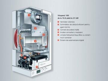 poza Centrala termica pe gaz Viessmann Vitopend 100-W 30 kW cu tiraj natural